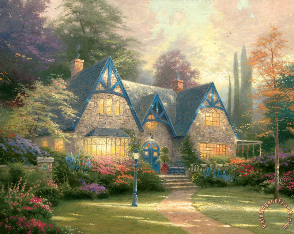 Winsor Manor painting - Thomas Kinkade Winsor Manor Art Print
