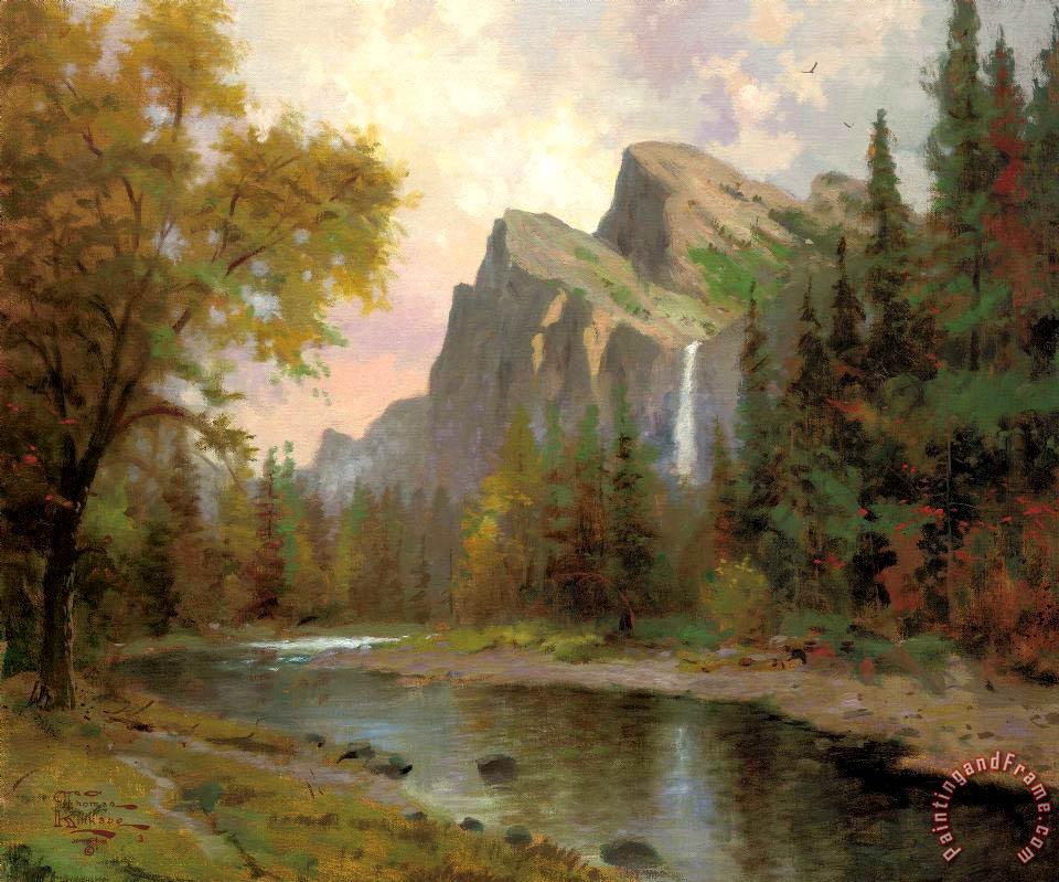 Thomas Kinkade Yosemite Valley Painting Yosemite Valley