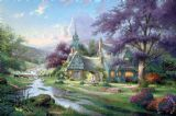 Clocktower Cottage by Thomas Kinkade