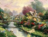 Lamplight Bridge by Thomas Kinkade