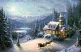 Sunday Evening Sleigh Ride by Thomas Kinkade