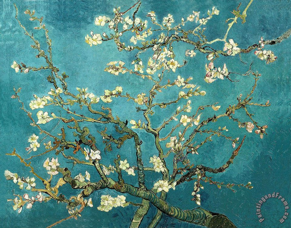 Blossoming Almond Tree painting - Vincent van Gogh Blossoming Almond Tree Art Print