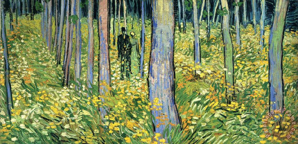 Vincent van Gogh Undergrowth with Two Figures Art Print