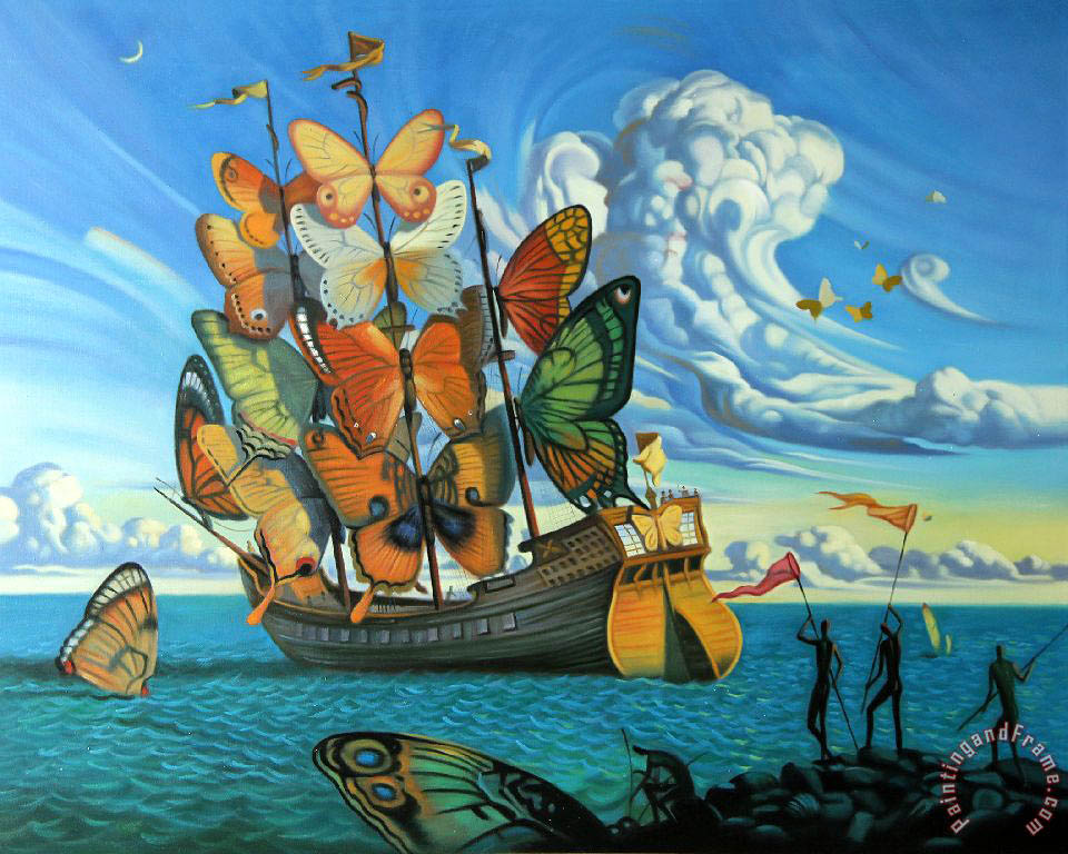 Vladimir Kush Departure of The Winged Ship Art Print