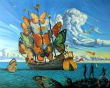 Departure of The Winged Ship by Vladimir Kush