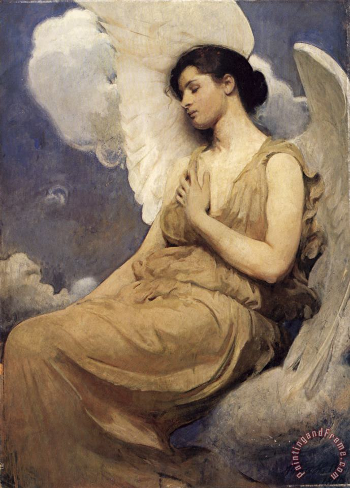 Abbott Handerson Thayer Winged Figure Art Print