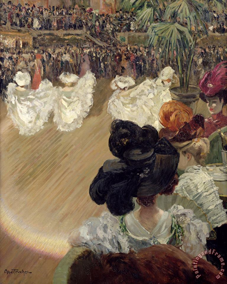Quadrille at the Bal Tabarin painting - Abel-Truchet Quadrille at the Bal Tabarin Art Print