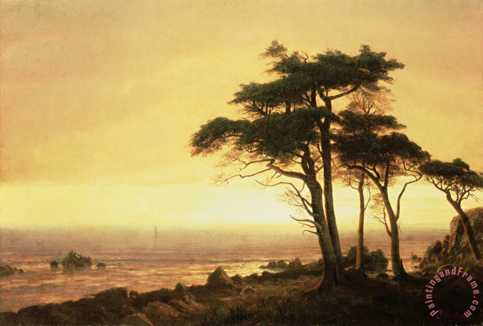 Albert Bierstadt California Coast Art Painting
