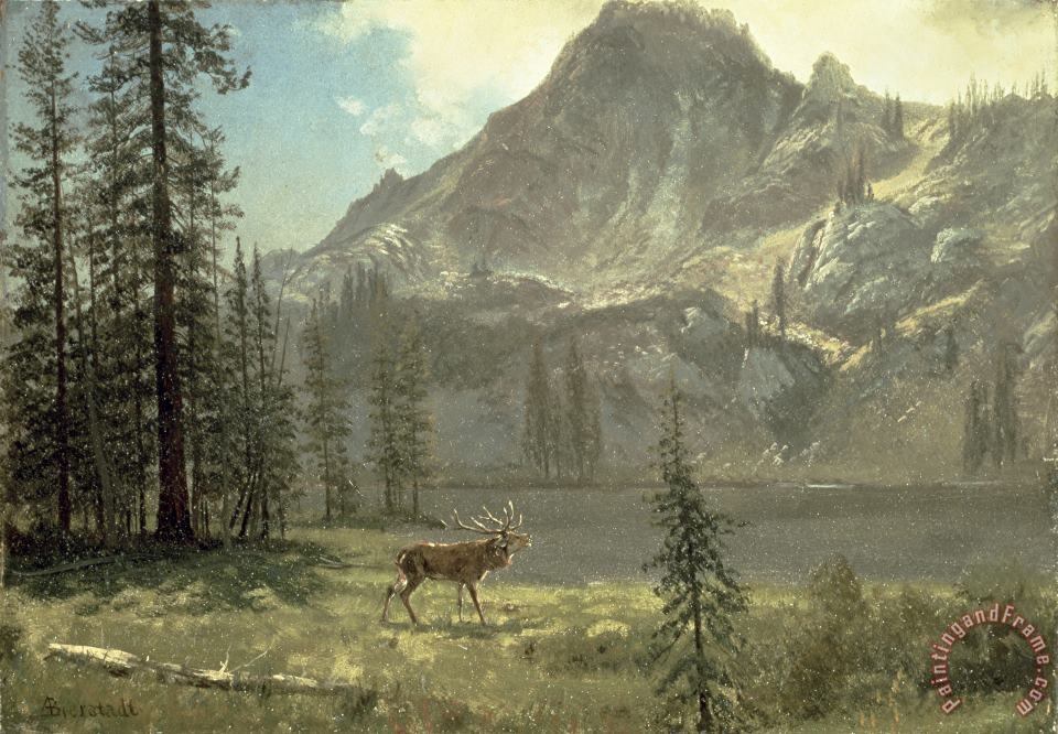 Albert Bierstadt Call of the Wild Art Print