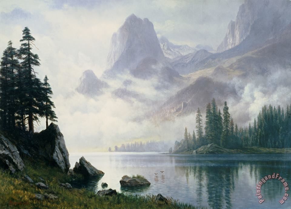 Mountain out of the Mist painting - Albert Bierstadt Mountain out of the Mist Art Print