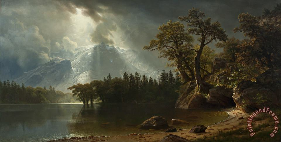 Albert Bierstadt Passing Storm Over The Sierra Nevadas Art Print