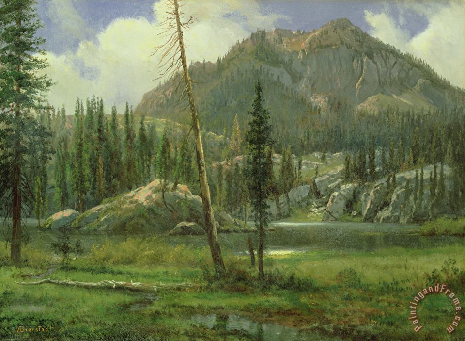 Albert Bierstadt Sierra Nevada Mountains Art Print