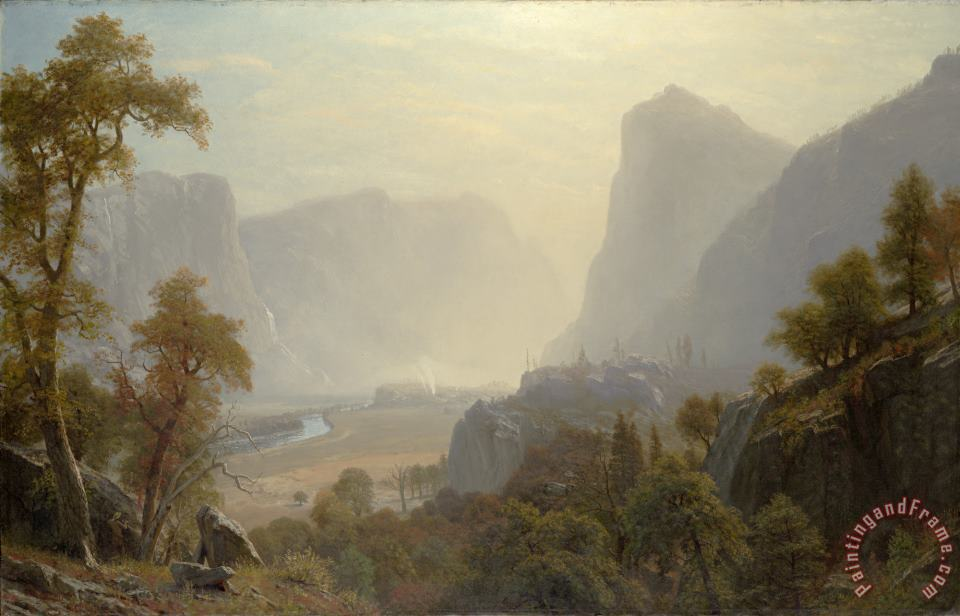 Albert Bierstadt The Hetch Hetchy Valley, California Art Print