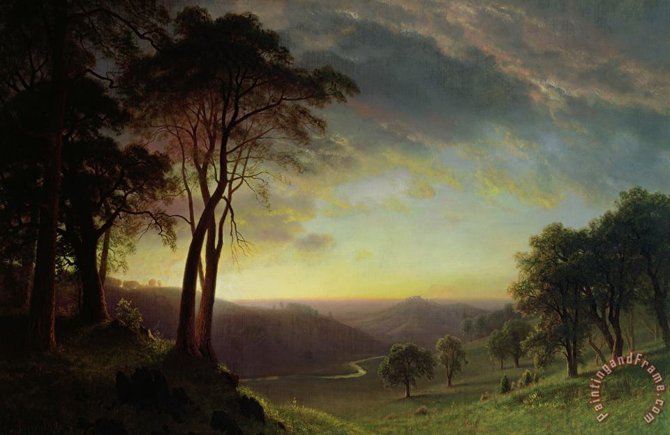 The Sacramento River Valley painting - Albert Bierstadt The Sacramento River Valley Art Print