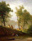 The Wolf River - Kansas by Albert Bierstadt