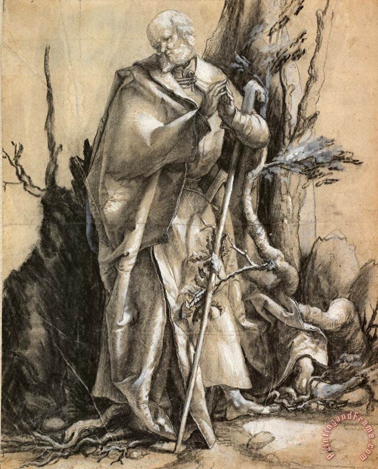 Bearded Saint in a Forest, C. 1516 painting - Albrecht Durer Bearded Saint in a Forest, C. 1516 Art Print