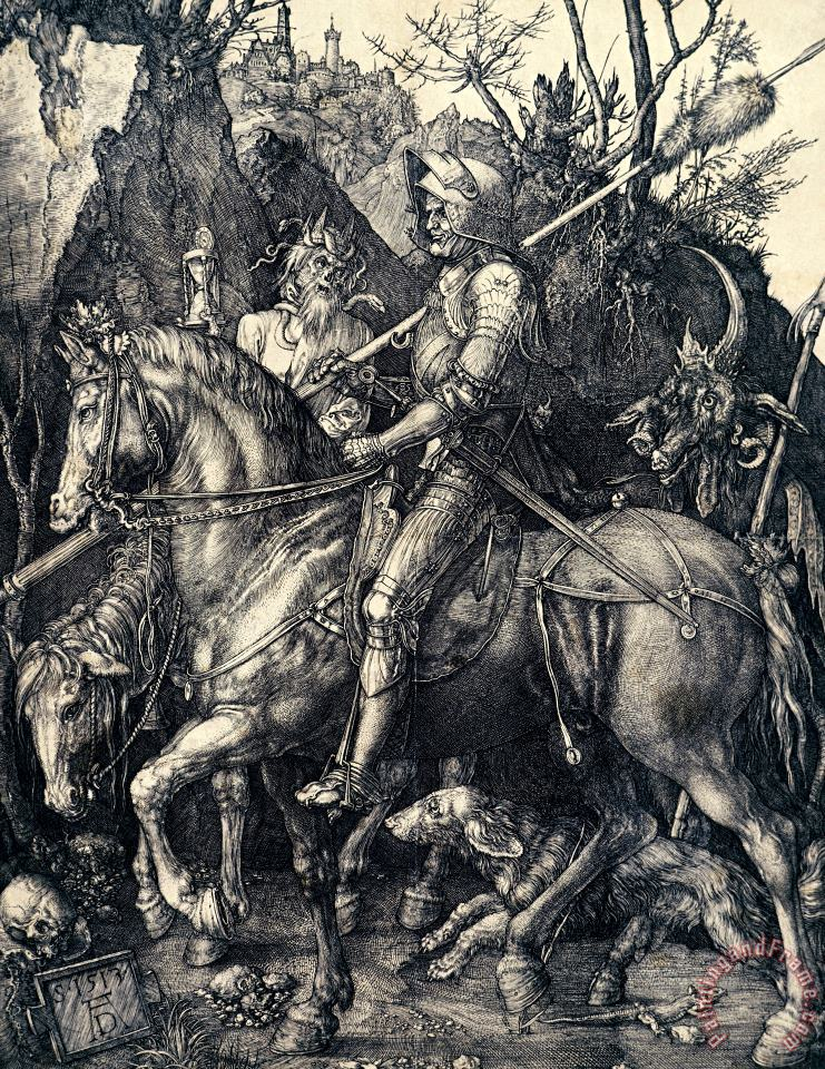Albrecht Durer Knight Death And The Devil Art Painting
