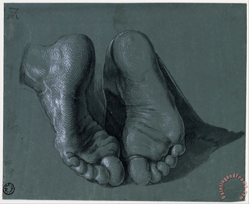 Study of Two Feet painting - Albrecht Durer Study of Two Feet Art Print