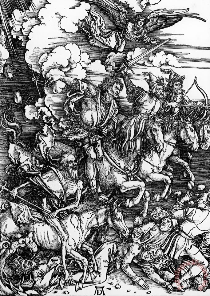 The Four Horsemen Of The Apocalypse painting - Albrecht Durer The Four Horsemen Of The Apocalypse Art Print