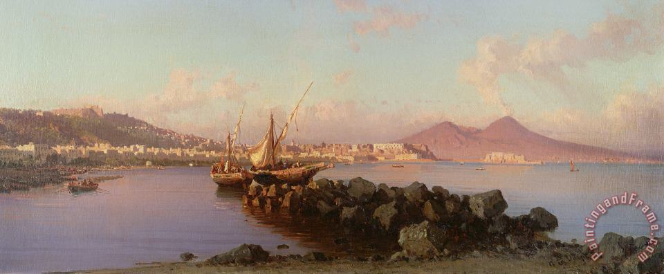Alessandro la Volpe View of the Bay of Naples Art Painting