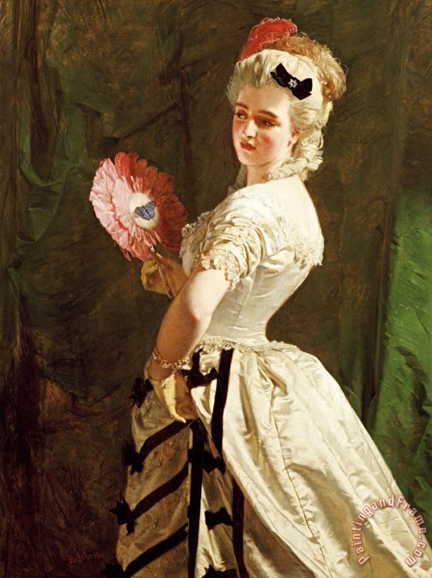 Alexander Johnston The Flirt Painting The Flirt Print For Sale