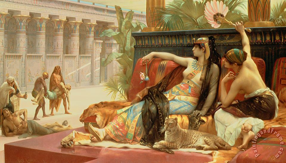 Cleopatra Testing Poisons On Those Condemned To Death painting - Alexandre Cabanel Cleopatra Testing Poisons On Those Condemned To Death Art Print