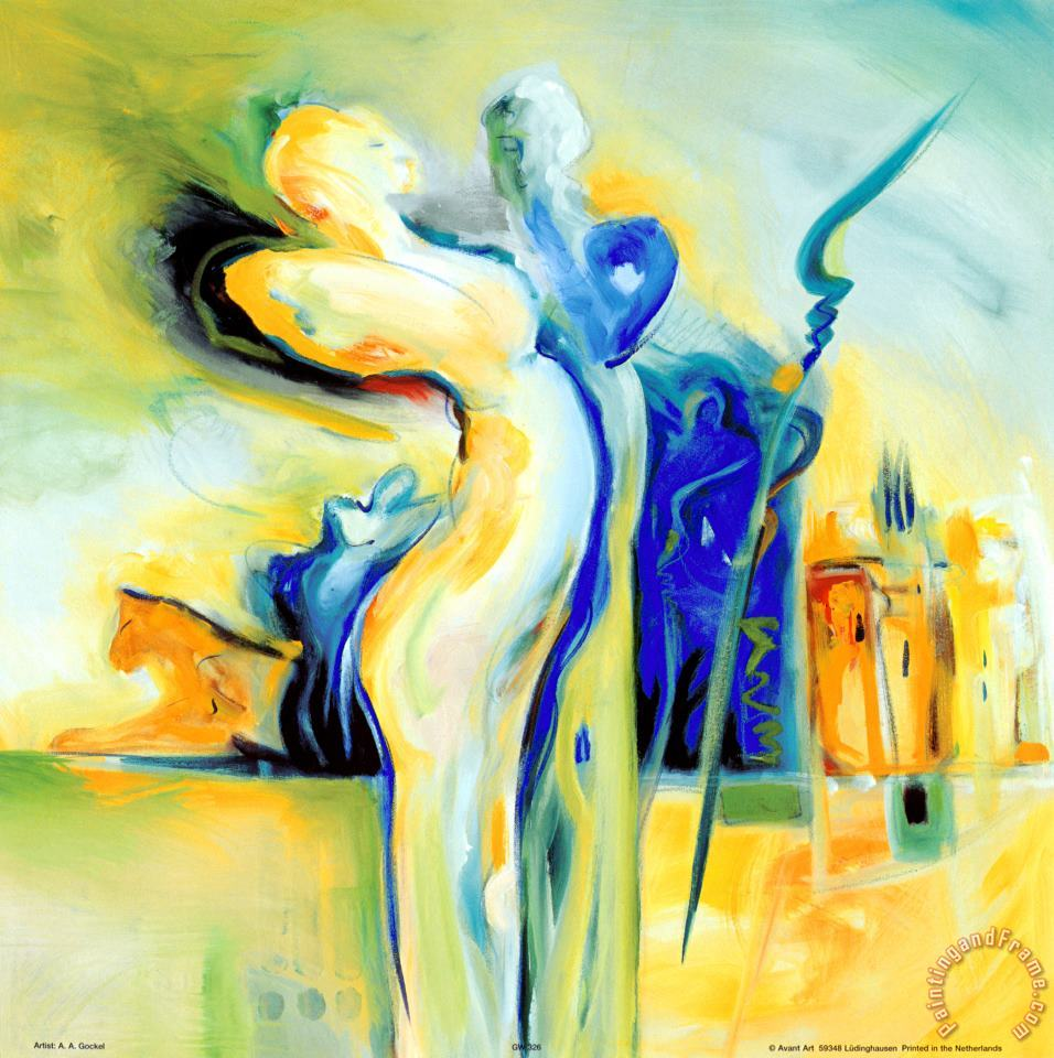 Romance in an Exotic Place painting - alfred gockel Romance in an Exotic Place Art Print