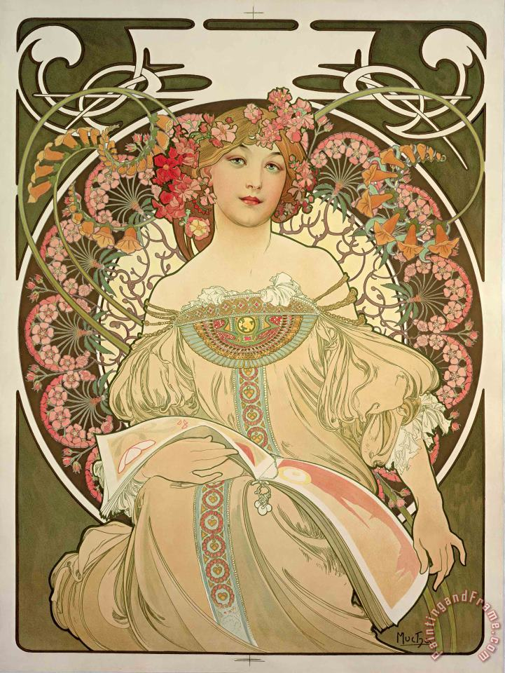 Champagne Printer Publisher 1897 painting - Alphonse Marie Mucha Champagne Printer Publisher 1897 Art Print