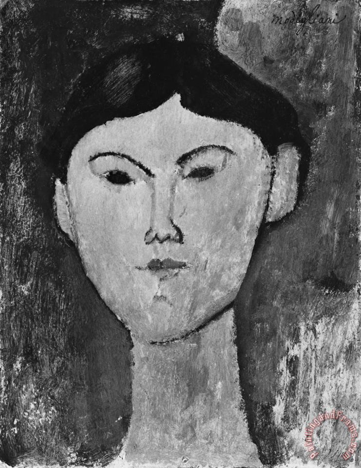 Beatrice Hastings (1879 1943) painting - Amedeo Modigliani Beatrice Hastings (1879 1943) Art Print