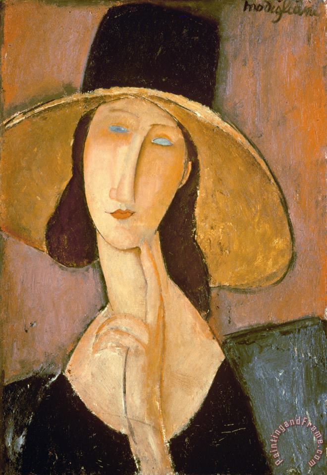 Head of a Woman painting - Amedeo Modigliani Head of a Woman Art Print