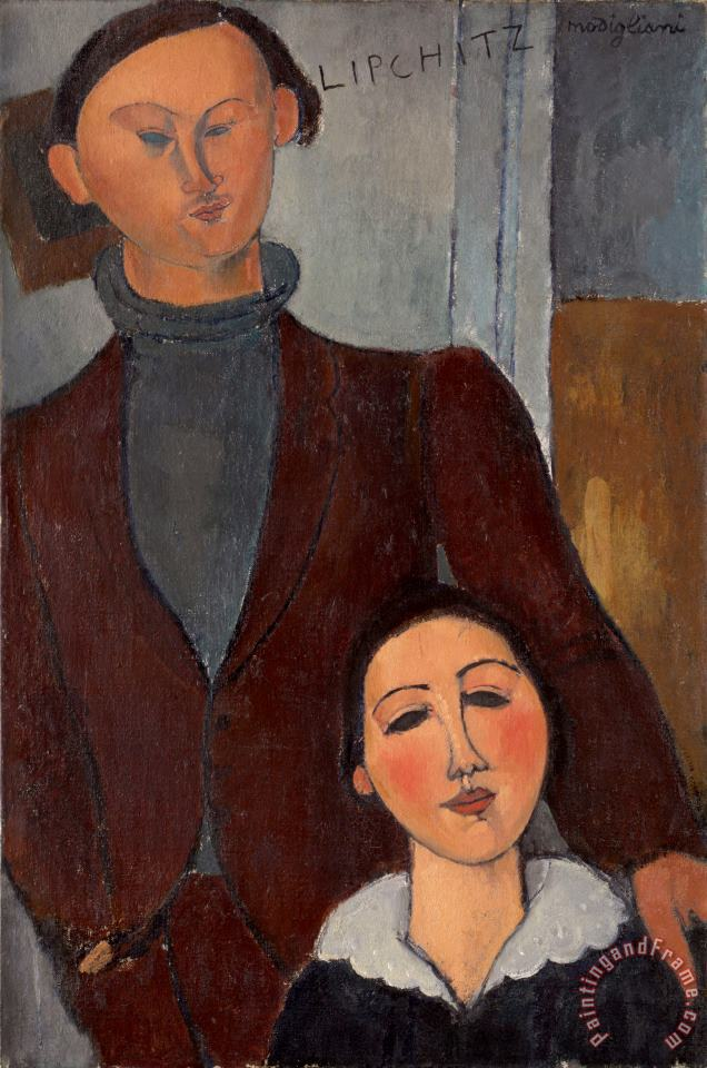 Jacques And Berthe Lipchitz painting - Amedeo Modigliani Jacques And Berthe Lipchitz Art Print