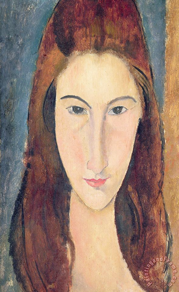 Amedeo Modigliani Jeanne Hebuterne Art Painting