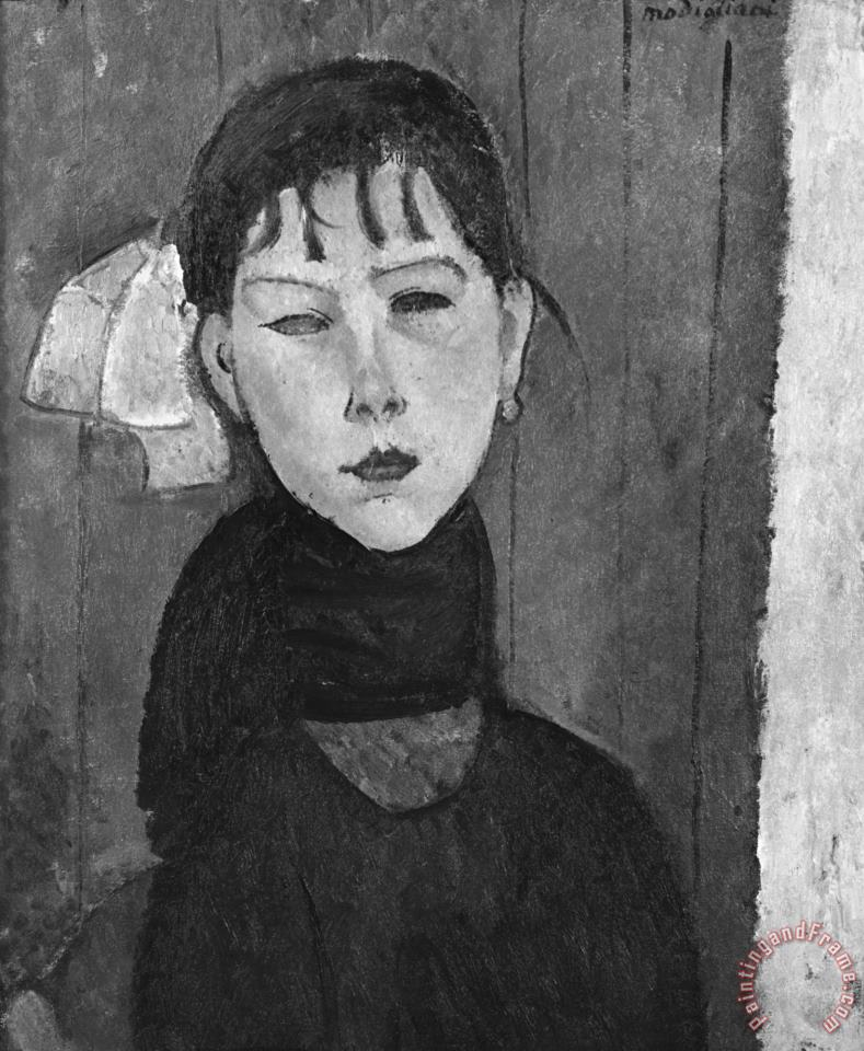 Marie, Young Woman of The People painting - Amedeo Modigliani Marie, Young Woman of The People Art Print