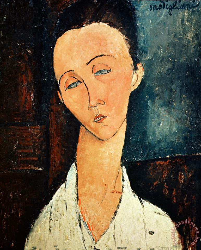 Portrait of Lunia Czechowska painting - Amedeo Modigliani Portrait of Lunia Czechowska Art Print