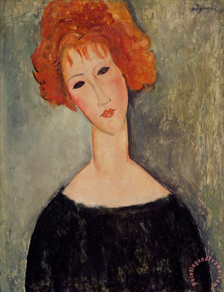 Red Head painting - Amedeo Modigliani Red Head Art Print