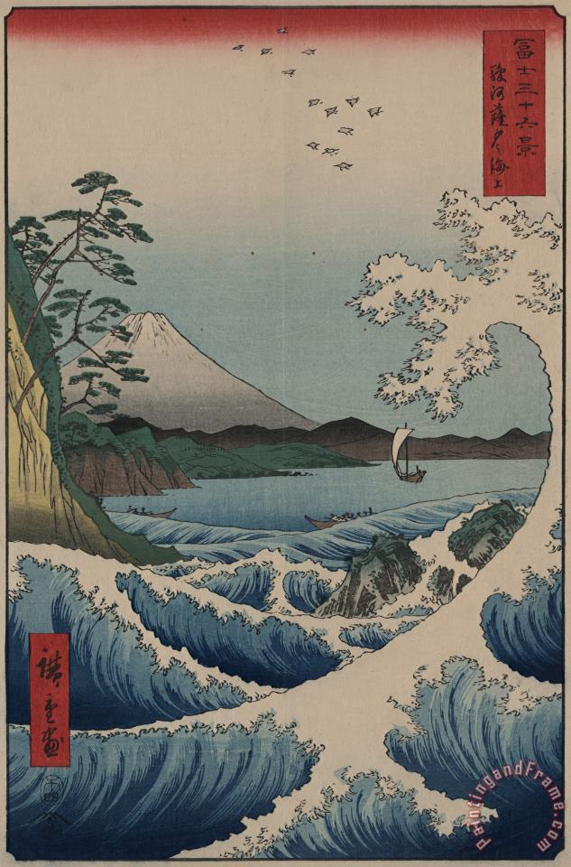 Sea at Satta in Suruga Province painting - Ando Hiroshige Sea at Satta in Suruga Province Art Print