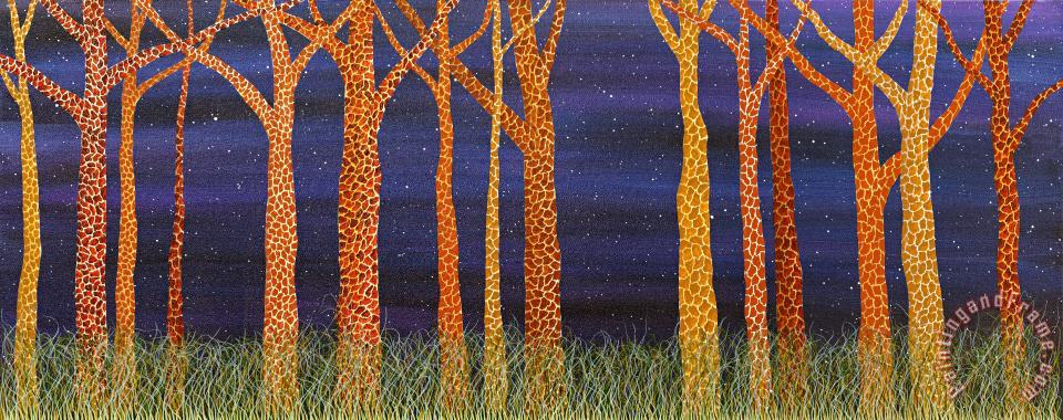 These weren't the long necks of his college years. painting - Andrea Youngman These weren't the long necks of his college years. Art Print