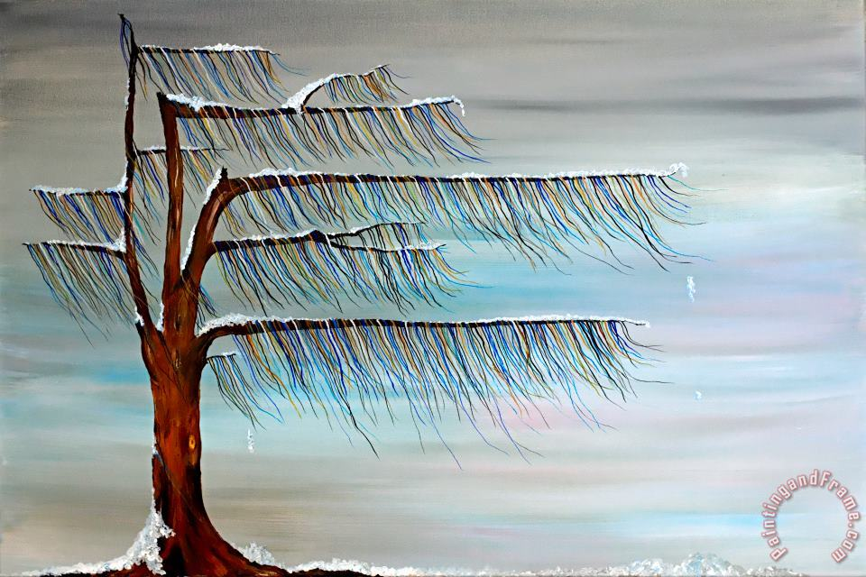 Winter Blues painting - Andrea Youngman Winter Blues Art Print