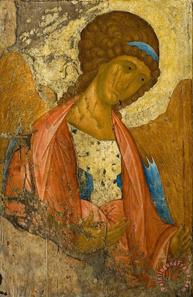 Archangel Michael. From the Deisus Chin painting - Andrei Rublev Archangel Michael. From the Deisus Chin Art Print