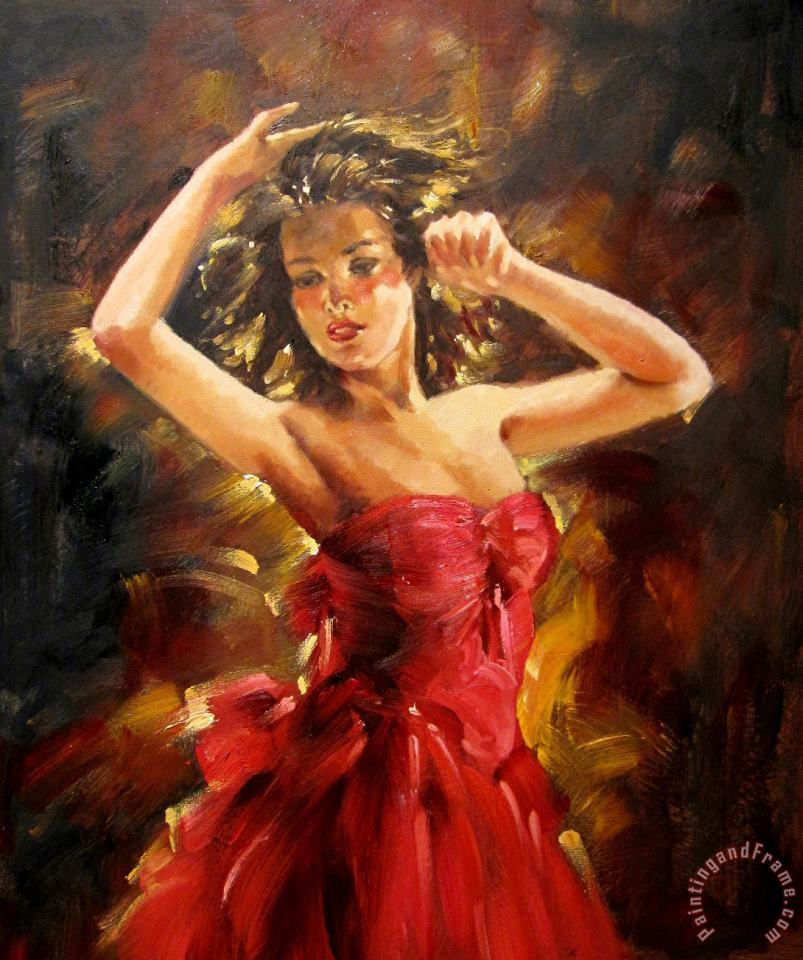Andrew Atroshenko Beautiful Dancer Art Painting