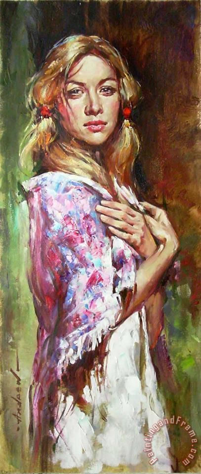 Russian Beauty painting - Andrew Atroshenko Russian Beauty Art Print