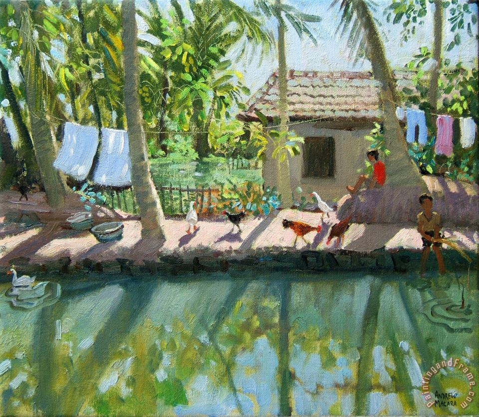 Andrew Macara Backwaters India Art Painting
