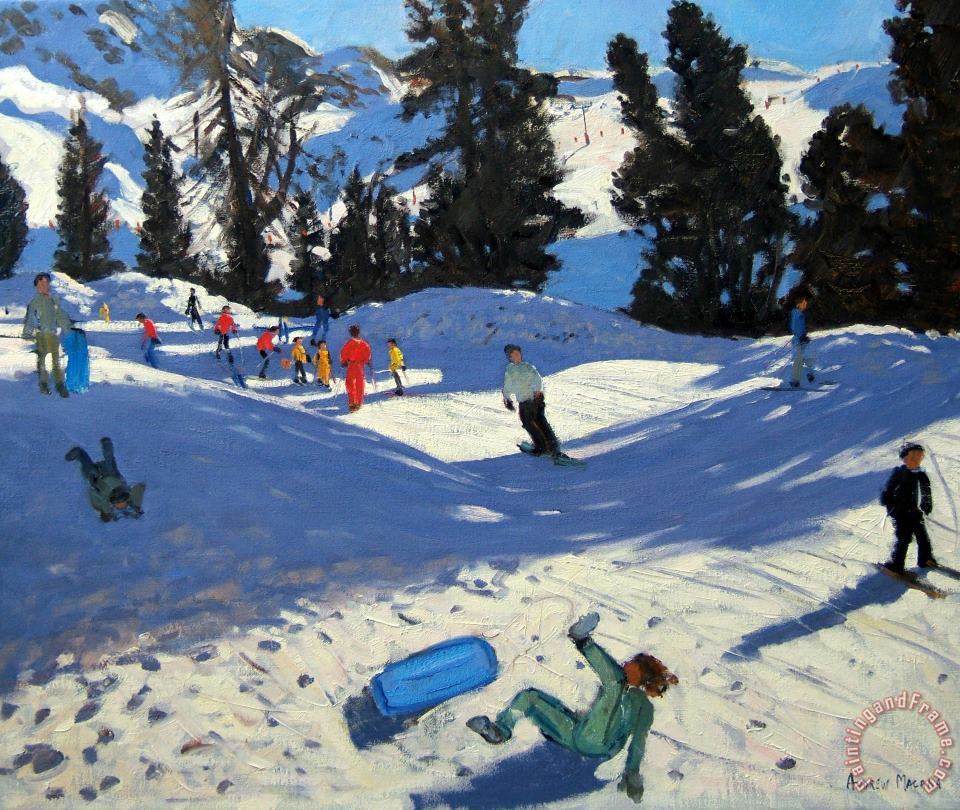 Blue Sledge painting - Andrew Macara Blue Sledge Art Print