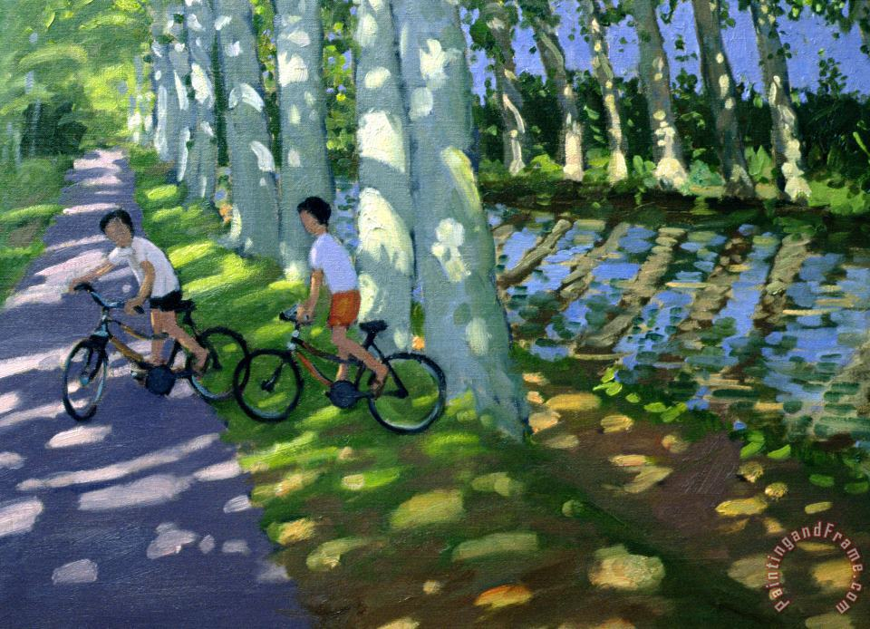 Canal du Midi France painting - Andrew Macara Canal du Midi France Art Print