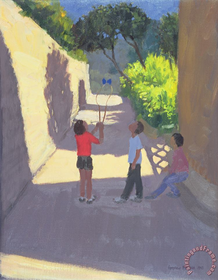 Diabolo France painting - Andrew Macara Diabolo France Art Print