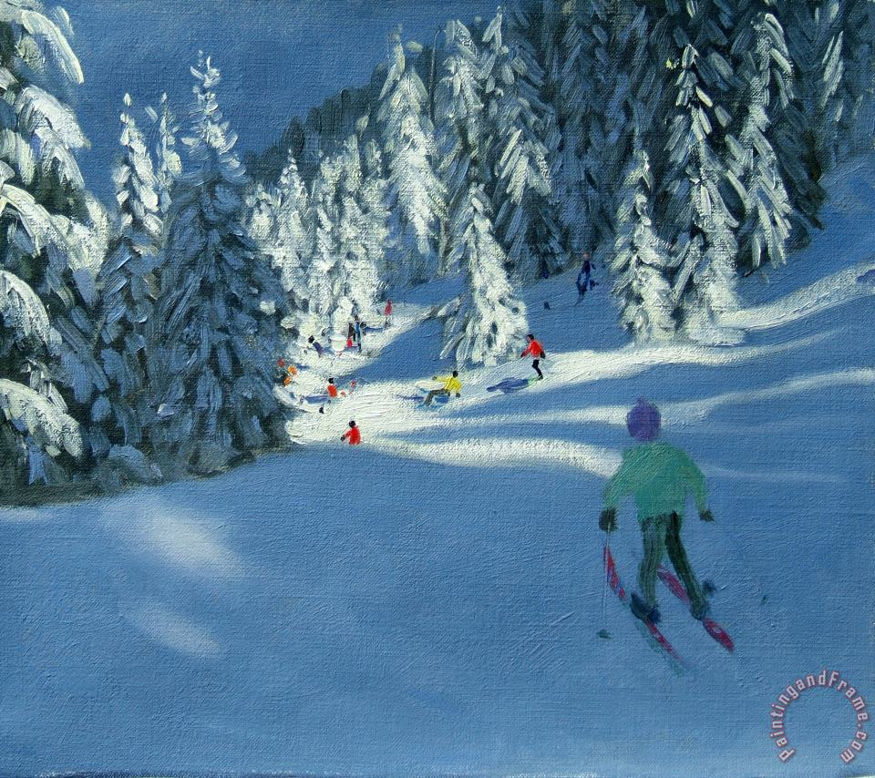 Fresh Snow painting - Andrew Macara Fresh Snow Art Print