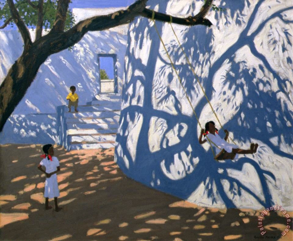 Andrew Macara Girl on a Swing India Art Painting