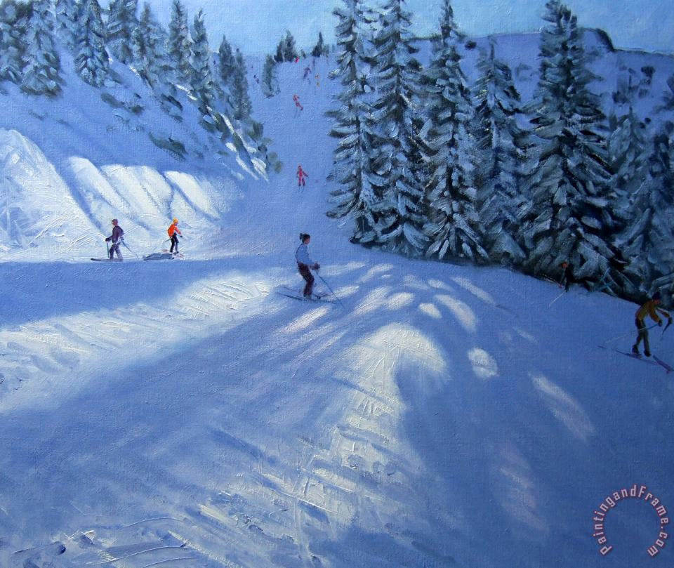 Andrew Macara Morzine ski run Art Painting
