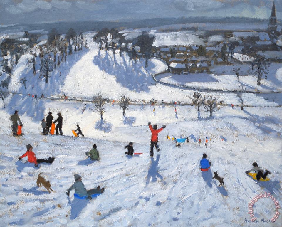 Andrew Macara Winter Fun Art Print