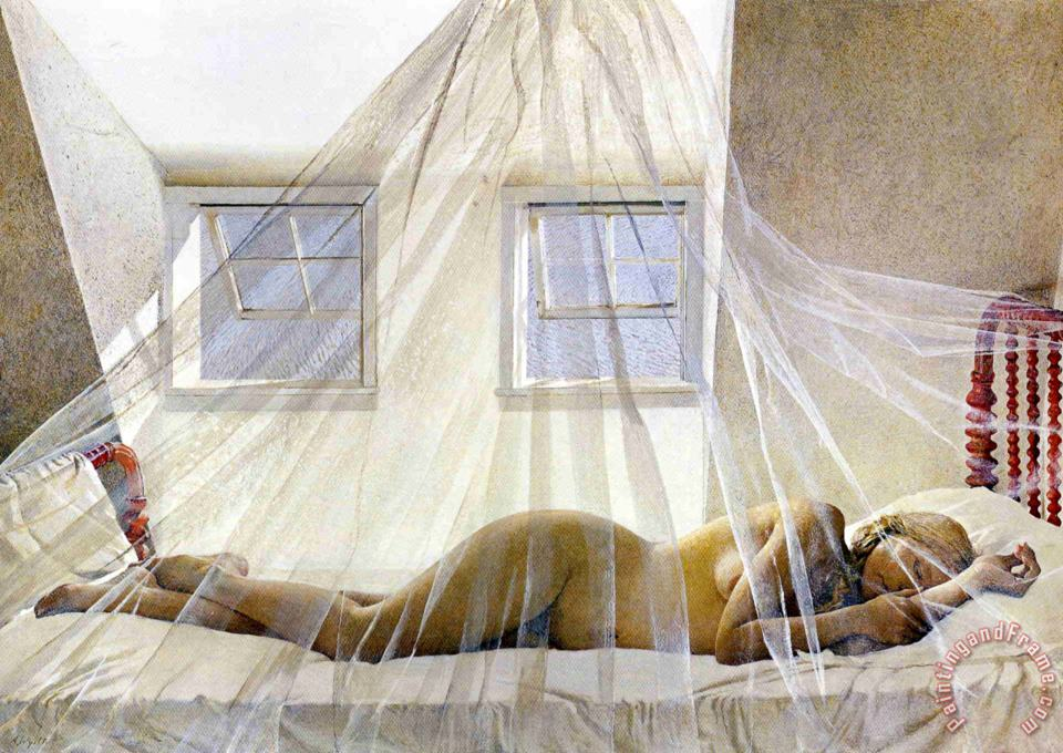 Day Dream 1980 painting - andrew wyeth Day Dream 1980 Art Print